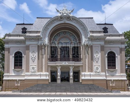 Frontal View On Saigon Opera House In Ho Chi Ming City.