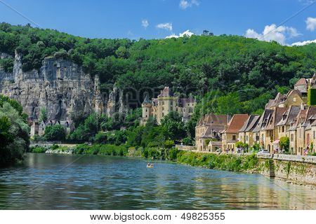 beautiful village of La roque gageac dordogne perigord France