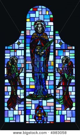 Stained Glass Saint