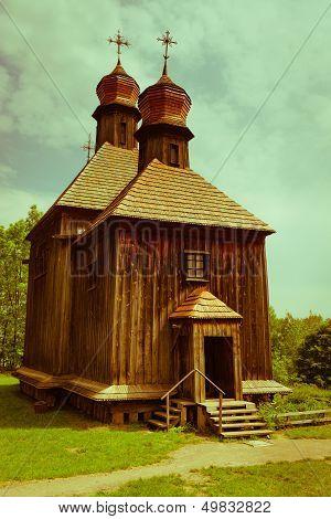 Vintage Wooden Church