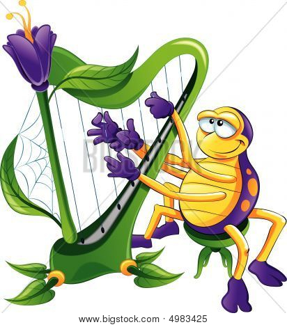 Spider With Harp