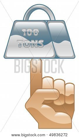Strength Concept Icon Clipart Illustration