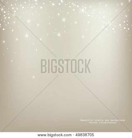 Abstract luminescence background with stars.