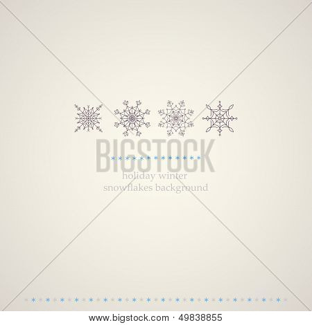 Decoration snowflakes winter background.