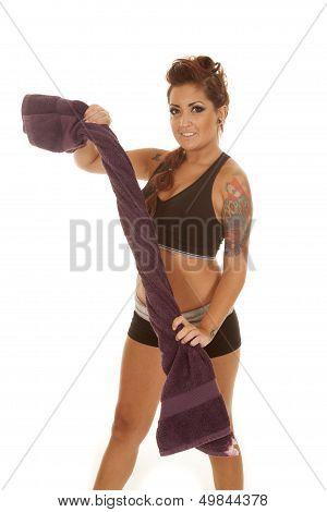 Woman Tattoos Fitness Towel Twist