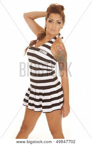Woman Tattoos Prison Side Hand Hair