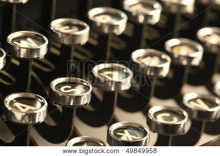 Vintage typewriter keys