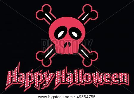 Happy Halloween skull and crossbones