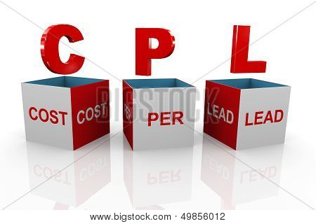3D Box Of Cpl - Cost Per Lead