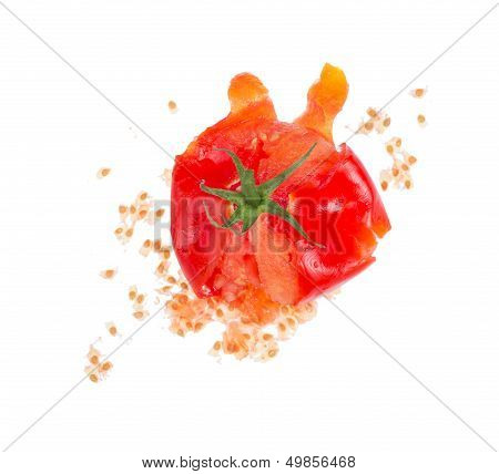 Crushed  Fresh Tomato.