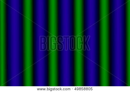 Glowing Green And Blue Vertical Rows