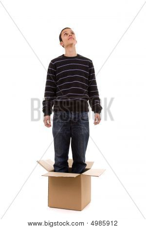 Young Man Inside The Box