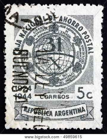 Postage Stamp Argentina 1944 Allegory Of Savings