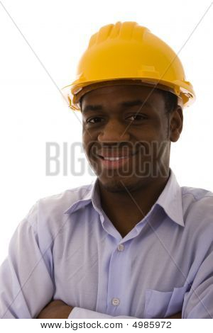 African Engineer Smilling