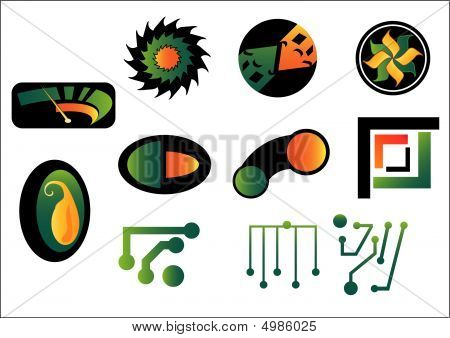 Set Of Abstract Logo