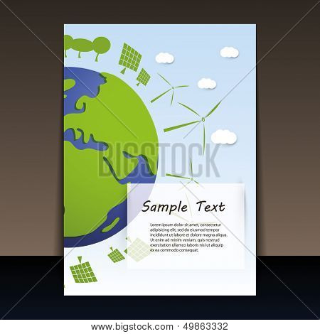 Environmentally Friendly Planet | Flyer Vector Illustration