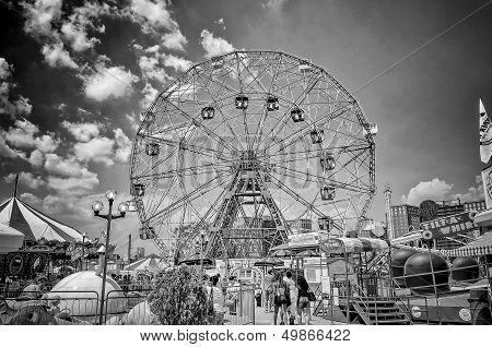 Wonder Wheel In Coney Island, New York