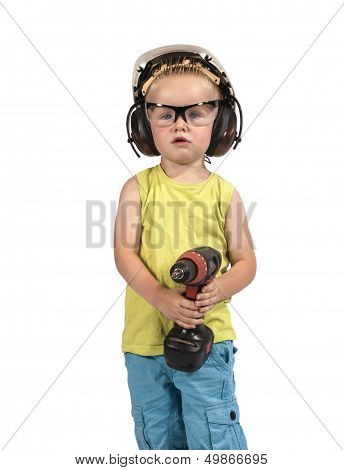 Toddler Dressed With Personal Protective Equipment