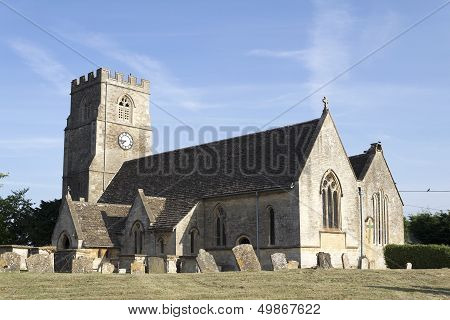A village church in Wiltshire, England