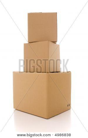 Parcelas de la caja de cartón
