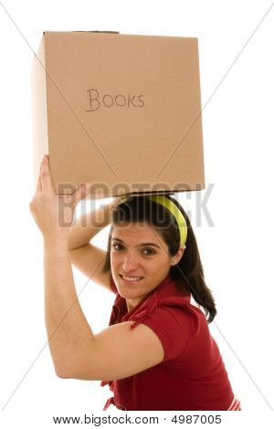 Woman With A Box Over Her Head
