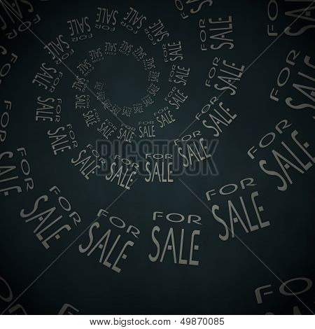 3D Render Of A Stylish Sale Label  On Vintage Background