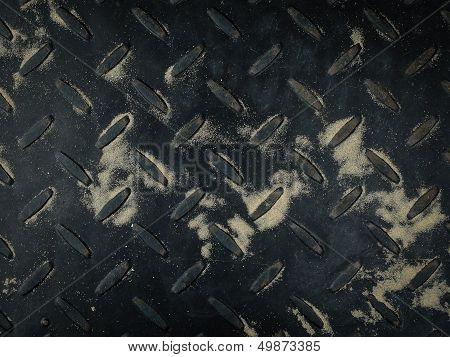 Texture Of Old Black Metal Sheet