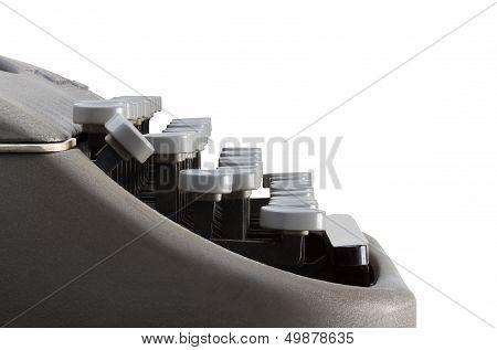 Side View Of Typewriter Keyboard