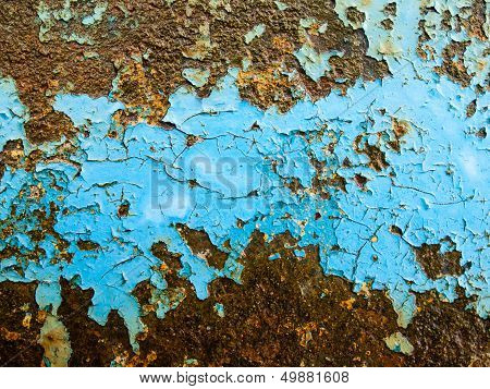Flaking Paint On Rusty Iron