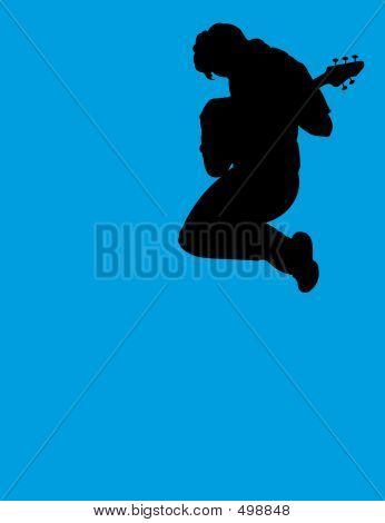 Jumping Guitar Player