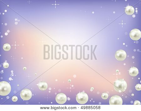 Abstract Blue Background With Perls