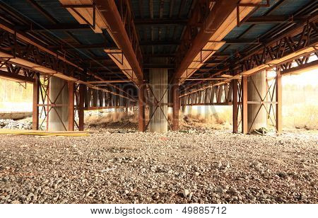 bridge over gravel