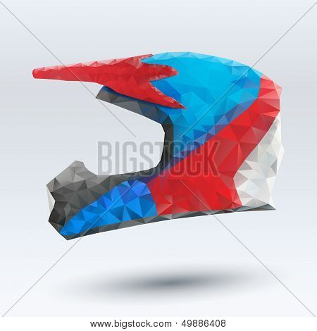 Vector Illustration abstract motorcycle helmet