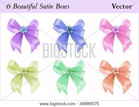 Six Satin Bows