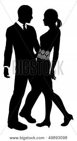 Attractive Couple Silhouette