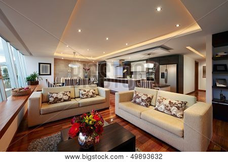 Interior design: Big Modern Living room