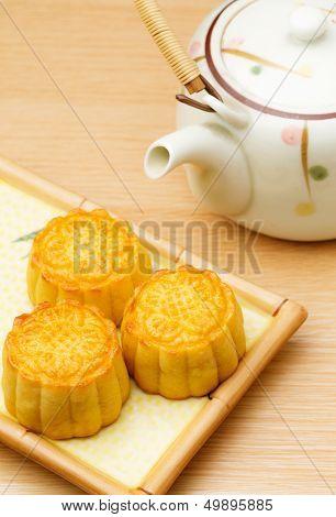 Mooncake and teapot