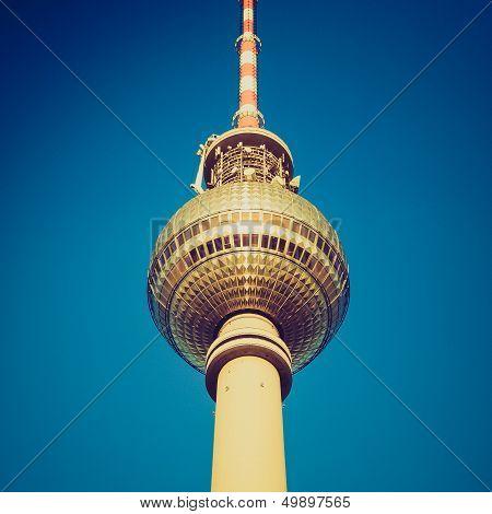 Retro Look Berlin Fernsehturm