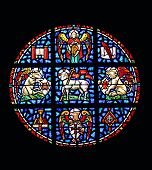 Window Of Worship In Stained Glass