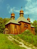 Vintage Wooden Church