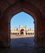 Indian Delhi Landmark - Jama Masjid Mosque poster