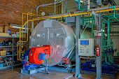 picture of boiler  - The steam boiler on gas fuel  - JPG