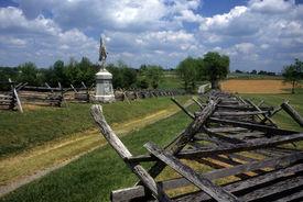 pic of rebs  - Rail fences along the Sunken Road at the Antietam National Battlefield American Civil WarMaryland - JPG