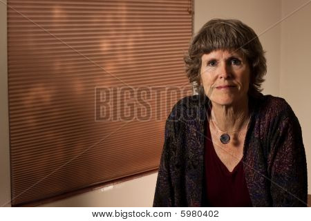 Portrait of an attractive senior lady