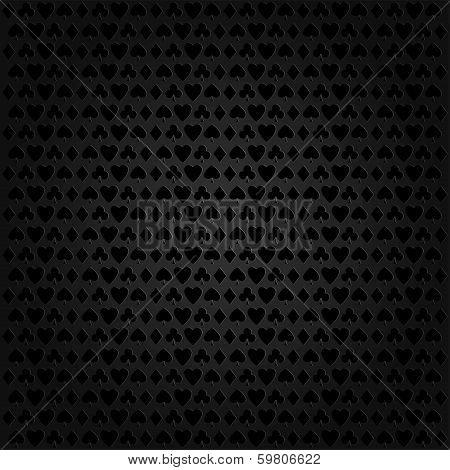 Abstract poker and casino background, vector illustration