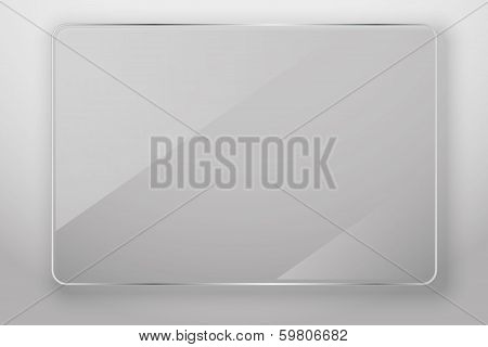 Glass frame, vector illustration