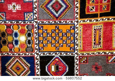 Decorative pattern of the Moroccan carpet