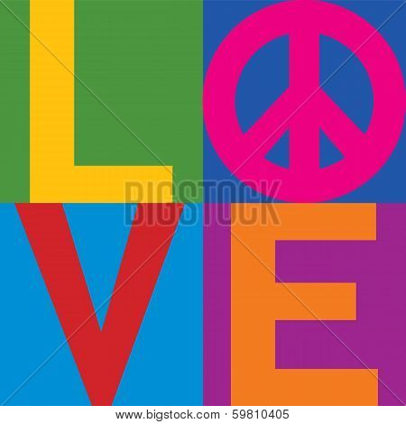 Color Block LOVE=Peace
