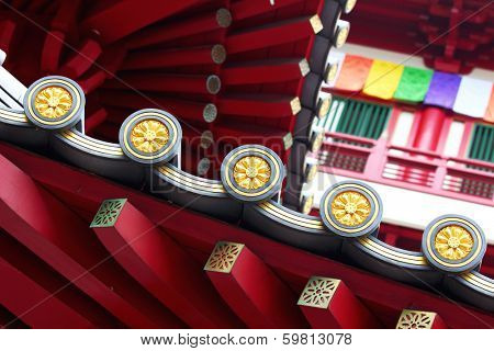 Chinese temple roof eaves