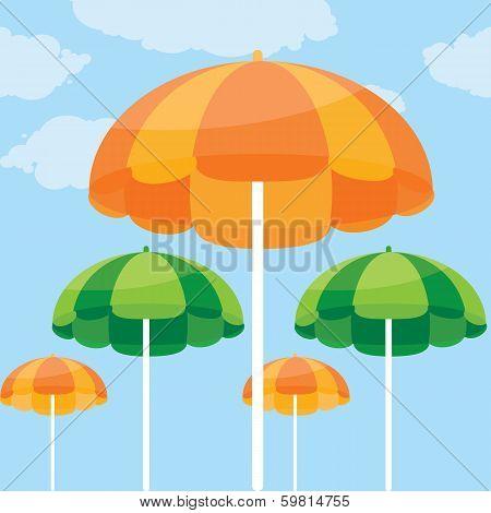 color vector illustration of summer beach umbrella